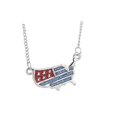 Qiuday Damen-Kette Damenmode charme anhänger halskette luxus lange pullover kette Hochwertige Frauen Halskette aus Edelstahl Silber-Kette mit Geschenk-Set | Frauen Schmuck mit Anhänger