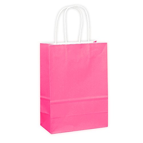 eschenktüten Papiertüten mit Griffen, insgesamt 5 Farben für Ihre Wahl (Rose) (Halloween-papier-geschenk-taschen)