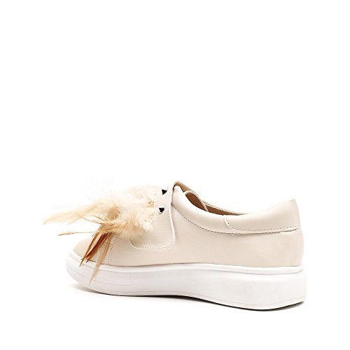 Ideal Shoes, Damen Slipper & Mokassins Beige