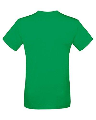 Fruit Of The Loom 61412 Mens Short Sleeve Softspun T-Shirt Tee Kelly Green