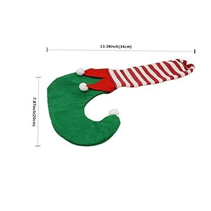 4pcs Pata De La Mesa De Navidad Fundas Para Sillas Creativo De Los Calcetines De Navidad Muebles Calcetines Del Piso Protectores De Mesa Silla Pie Pierna Calcetines Para Decoración De Navidad (verde)