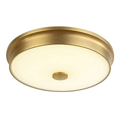HUAQIMEI Küche Deckenleuchten Moderne Led-Lampe Runde Design Messing Acryl Schlafzimmer Leuchte, DREI Farben Dimmbar, DREI Größen Sind Verfügbar -