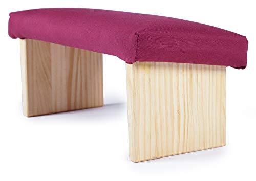 EcoYoga Banco para meditación tapizado en Granate