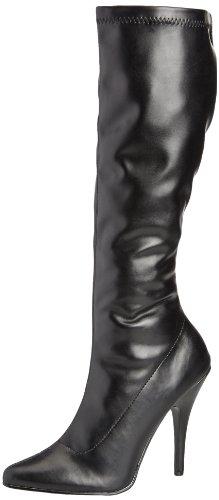 Pleaser SEDUCE-2000 Damen Stiefel, Gr. 44 ( 11 UK), Schwarz (Blk str puUK) -
