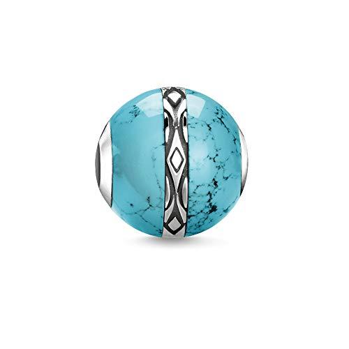 Thomas Sabo Damen-Bead Türkis Ornament 925er Sterlingsilber geschwärzt K0325-878-17