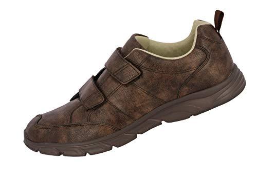 Lico Rondo V Herren Freizeitschuh Klettverschluss Sneaker Textilfutter (42 EU, Braun) (Sneaker Rondo)