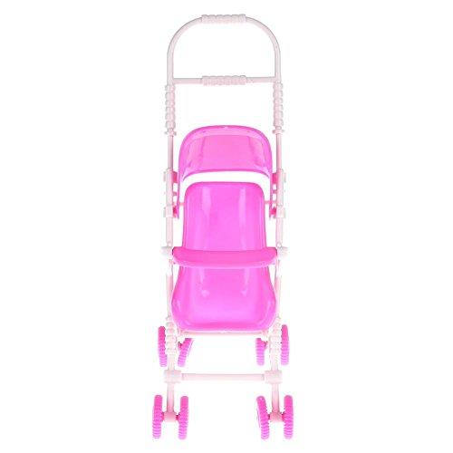 Rrimin Baby Stroller Infant Carriage Stroller Trolley Nursery Toy For Barbie Doll