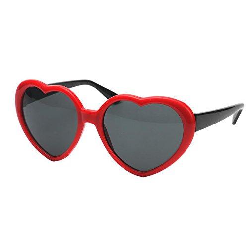 Amosfun Herzförmige Rahmen Gläser Party Eye Wear Sonnenbrille Halloween Kostüme Hochzeit Valentinstag Dekoration (Rot)