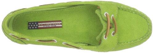 US Polo Assn, Damen Slipper & Mokassins Grün - Vert (Lgreen)