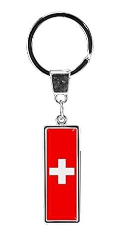 Porte-clés en métal chromé sous forme droite