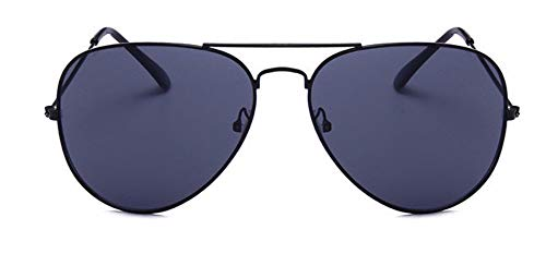 WSKPE Sonnenbrille Aviator Sonnenbrille Brillengestell Piloten Sonnenbrille Frauen Männer Damen Brille Graue Linse