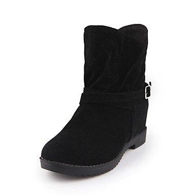 Stivali Donna Comfort Cuoio Inverno Autunno Inverno Abbigliamento Casual Walking Comfort Fibbia Cuneo Heel Ruby Yellow Gray