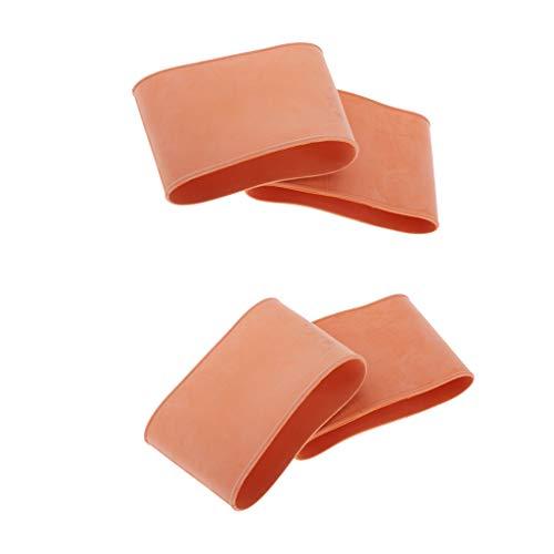 perfeclan Gummi Ärmel Wrist Seal 2 Paar Ankle Seals für Neoprenanzug Tauchanzug Schwimmanzug