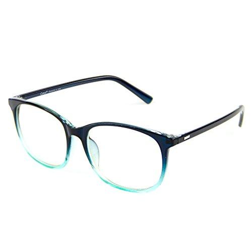 Cyxus Blaulicht-Blockierbrille für Anti-Augen-Kopfschmerzen, Retro Brillen, Unisex (Frauen/Männer) (Grün)