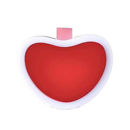 Calentador de manos Power Bank con luz de llenado espejo de maquillaje, 3 en 1 USB recargable 3600mAh...