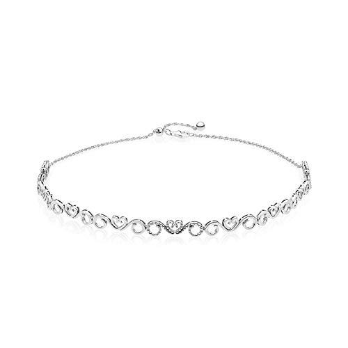 Pandora Damen-Halskette aus Choker 925 Sterlingsilber zirkonia 397129CZ-38