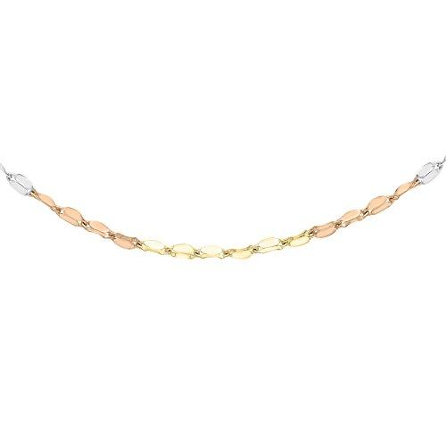 Carissima Gold Damen-Halskette 9 k (375) tricolor 41 cm gold 3.19.4033