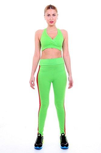 Smile YKK Legging Sculptant Femme Pantalon Yoga Jogging Running Sport Casual Amincissant Vert Rouge