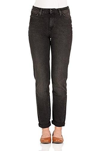 Lee Damen Jeans Mom - Straight Fit - Schwarz - Punk Deluxe, Größe:W 25 L 33, Farbe:Punk Deluxe (AB) - Lee Wrangler-jeans