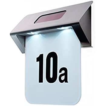 Exceptional House Door Number Sign LED Light Solar Wall Lamp With Numbers U0026 Letters