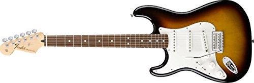 Fender 0144620502Standard Stratocaster LinkshÄnder Palisander Griffbrett E-Gitarre–Lake Placid blue-p Volle Größe Braun - Brown Sunburst