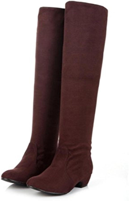 KUKI Botas de Otoño Mujeres Botas Jinete Botas Femenino de Gran Talla Grueso con los Zapatos de Tacón, us5.5/eu35...
