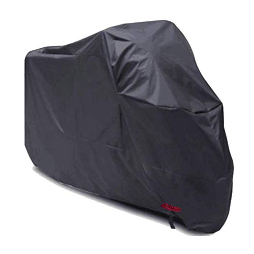 CAOYU Staubschutz im Freien, Motorradabdeckung, Elektroauto, Regenschutz, Staubschutz, Sonnenschutz (Farbe : SCHWARZ, größe : 220x95x110cm)