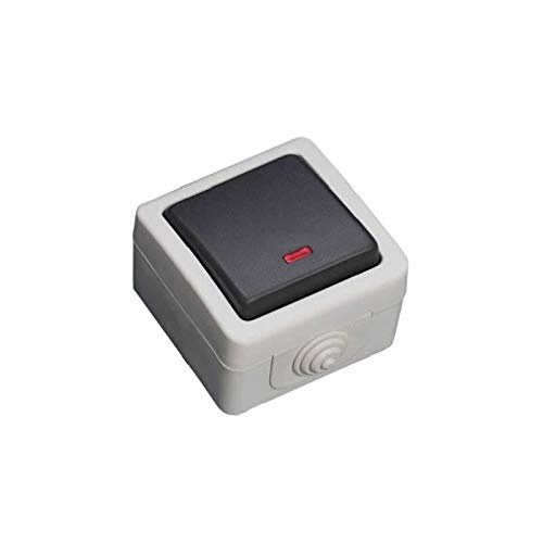 Evila - Interruptor estanco ip44 10a 250v con led luminoso