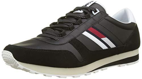 ee58f084e91 Hilfiger Denim Herren Retro Runner Sneaker Schwarz (Black 990) 43 EU