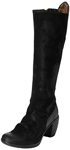 FLY London Damen Hean127fly Stiefel, Schwarz (Black), 42 EU