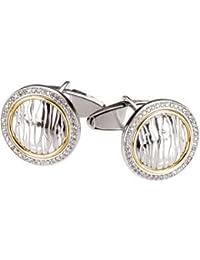 Sterling Silver Diamond Cuff Links 1/2ct Pair