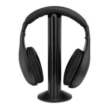 EASYELETTRONICA Cuffie Stereo Wireless 5 in 1 Senza Fili WiFi Cuffia per Pc  TV Audio Mp3 d4f26effe3c6