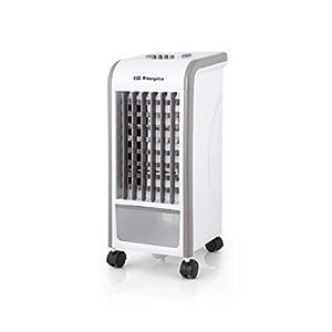 Orbegozo 1 Climatizador evaporativo 3 en 1, acumuladores de frío, depósito de 3.5 l, aletas direccionales, ruedas…
