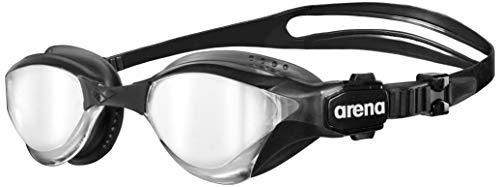 arena Unisex Triathlon Profi Wettkampf Schwimmbrille Cobra Tri Mirror (Verspiegelt, UV-Schutz, Anti-Fog), schwarz (Silver-Black), One Size
