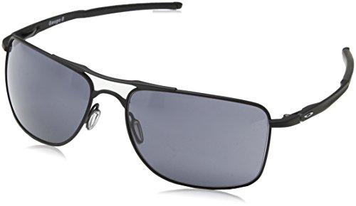 Oakley Herren Gauge 8 412401 62 Sonnenbrille, Schwarz (Matte Black/Grey),