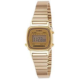 CASIO Reloj Digital para Mujer de Automático con Correa en Acero Inoxidable con tonalidades Doradas LA-670WGA-9