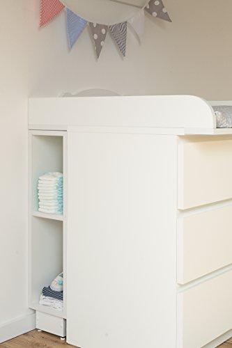KraftKids Estantería para cambiador–Blanco, para cómoda Malm