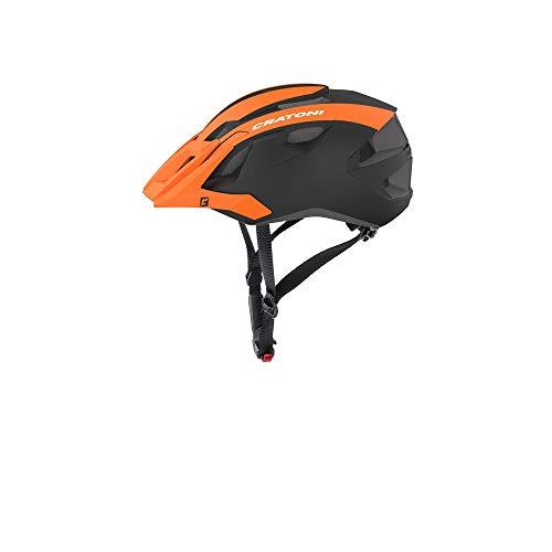Cratoni Mountainbike Helm AllRide, Orange-Black Matt, Gr. Uni (53-59 cm)