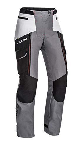 Ixon - Pantaloni Moto - Pantalon Sicilia L Pt Noir/Gris/Rouge - XL