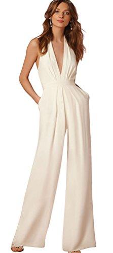 Jumpsuit da Donna Elegante- feiXIANG® Estate Boho Donna Backless ... 46e5c98a22a