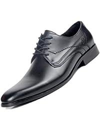 3c6bfb1ac7b22 Puntiagudos Negocios Inglaterra Zapatos Derby para Hombres Marrón Negro  Cuero Suave Fiesta Oficina Caballero