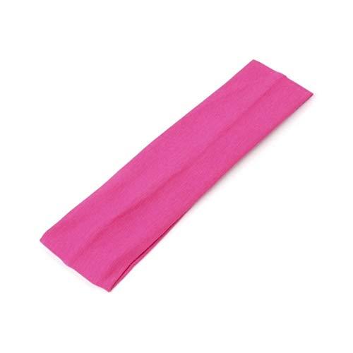 JUSTFOX - Sporthaarband Stirnband Haargummi Haarband für Sport Yoga Fitness Schweißband Pink