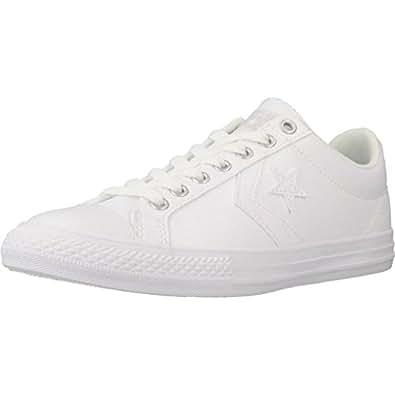 Converse Unisex-Kinder Lifestyle Star Player EV 3v OX Synthetic Fitnessschuhe, Weiß (White/White/White 100), 33 EU