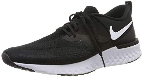 Nike Odyssey React 2 Flyknit, Zapatillas de Running para Hombre, Negro (Black/White 010) , 40 EU
