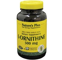 Nature s plus - L-ornithine - 90 gélules - Compense les carences en protéines