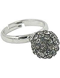 Verstellbarer Ring mit mehr als 70 Kristalle