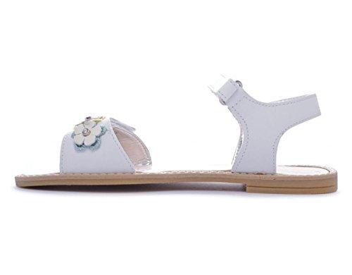 Primigi Violetta filles, cuir lisse, sandales Bianco
