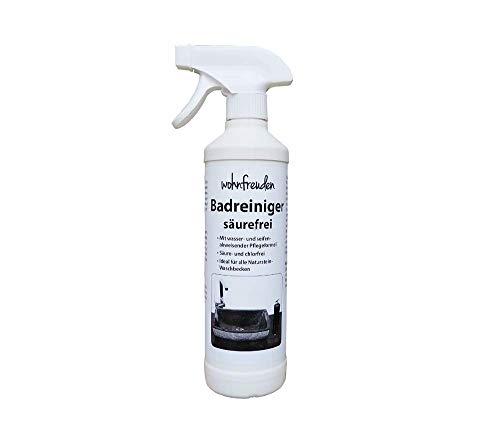 wohnfreuden Pflege Spray Badreiniger säurefrei 500 ml für Naturstein Waschbecken