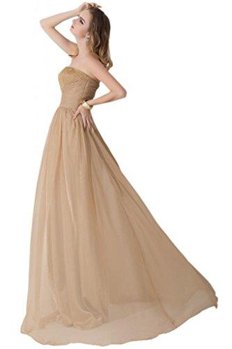 Sunvary Scollo quadrato Beautiful fondo arricciato abiti da damigella d'onore, per donna Burgundy