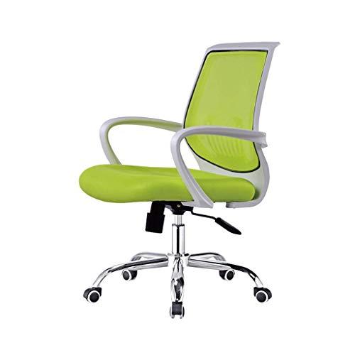 ZLFLD Bürostuhl Computersystem Drehstuhl Personal Stuhl zurück Konferenzsaal Tisch Konferenztisch weißer Tisch Orange Tischsitz Bürostuhl (Color : Green)